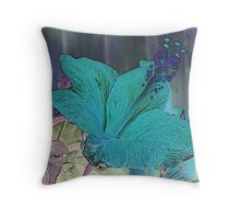Blue Thoughts of You Throw Pillow