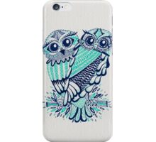 Owls – Turquoise & Navy iPhone Case/Skin