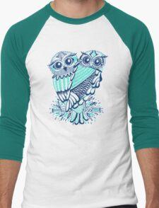 Owls – Turquoise & Navy Men's Baseball ¾ T-Shirt