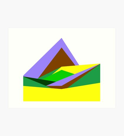 Green Hills, Generative art, Data Visualisation Art Print