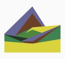 Green Hills, Generative art, Data Visualisation One Piece - Short Sleeve