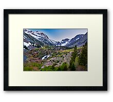 Dusk at Lundy Canyon Framed Print
