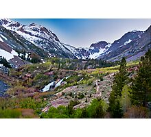 Dusk at Lundy Canyon Photographic Print