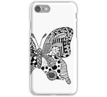 little zentangle butterfly iPhone Case/Skin