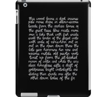 Sylvia Plath Poem iPad Case/Skin
