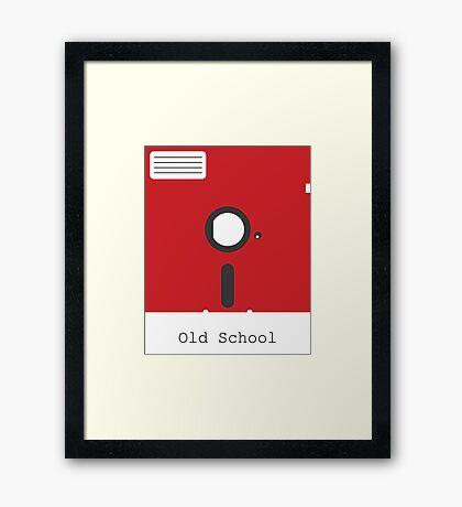 Old School Floppy Disk Framed Print