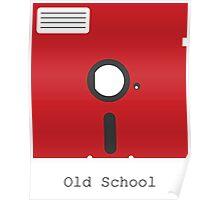 Old School Floppy Disk Poster
