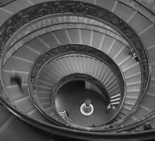 Vatican Museum Stairwell by GNicholas