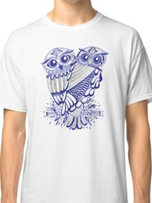 Owls – Silver & Navy Classic T-Shirt