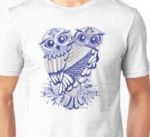 Owls – Silver & Navy Unisex T-Shirt