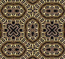 Black Gold Geometric Fusion #1 by webgrrl
