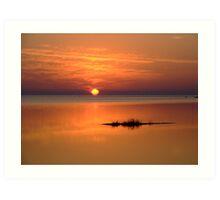 Sunset in Tarpon Springs Art Print
