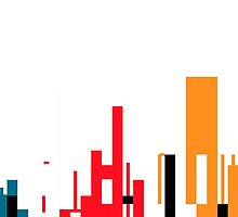 Skyline, Generative Art, Data Visualisation by cathalpaint