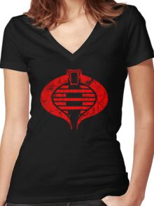 Team Cobrashikage Women's Fitted V-Neck T-Shirt