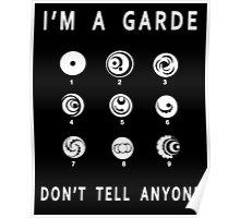 Lorien Legacies - I'm a Garde, Don't Tell Anyone Poster