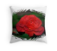 RED...RED ...ROSE Throw Pillow