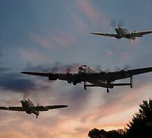 BBMF Low Pass at Sunset by © Steve H Clark Photography