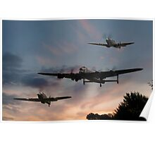 BBMF Low Pass at Sunset Poster
