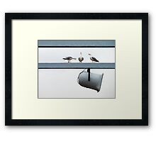 The Great Debate Framed Print