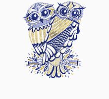 Owls – Navy & Gold Unisex T-Shirt