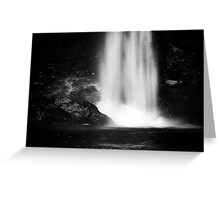 In the rain and spray Greeting Card