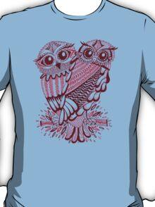 Owls – Maroon & Pink T-Shirt