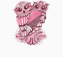 Owls – Maroon & Pink Unisex T-Shirt