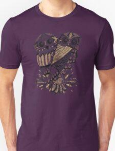 Owls – Black & Gold on Cream T-Shirt
