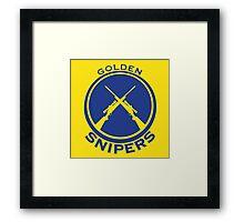 Golden Snipers (Guns) Framed Print