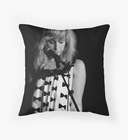 Waiting for my cue Throw Pillow