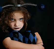 Grace as a Marvel Comic Bug Heroine during a pensive moment... by micklyn