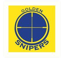 Golden Snipers (Crosshairs) Art Print