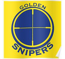 Golden Snipers (Crosshairs) Poster