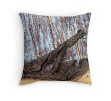 Wood and peel Throw Pillow