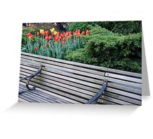 Broadway Mall Bench Greeting Card