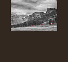 Colorado Western Landscape Red Barns Unisex T-Shirt