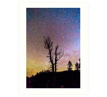 Colorful Celestial Night Portrait Art Print