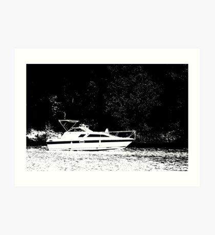 Crusin' on the Lake Art Print