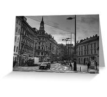Side Street, Vienna, Austria Greeting Card