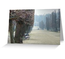 Bench at Schönbrunn Palace, Vienna Greeting Card
