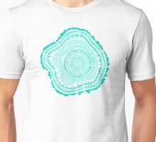 Turquoise Tree Rings Unisex T-Shirt
