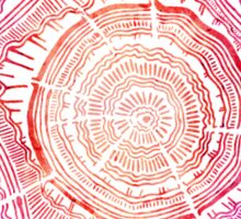 Tree Rings – Red Watercolor Sticker