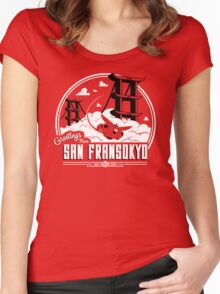 Greetings from San Fransokyo Women's Fitted Scoop T-Shirt