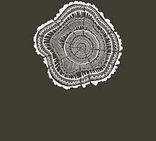 Tree Rings – White Ink on Kraft Unisex T-Shirt