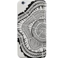 Tree Rings – Black on White iPhone Case/Skin