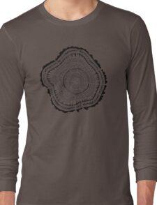 Tree Rings – Black on White Long Sleeve T-Shirt