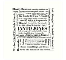 Ianto Jones Quotes Art Print