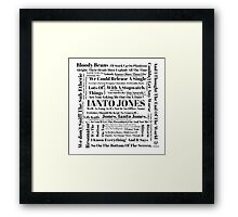 Ianto Jones Quotes Framed Print
