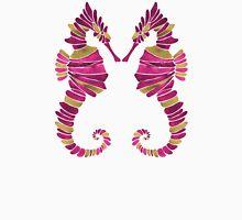Seahorse – Pink & Gold Unisex T-Shirt