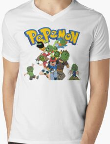 Pepemon Mens V-Neck T-Shirt